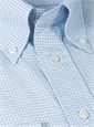 Blue and White Check Button Down