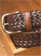 Basketweave Leather Belt