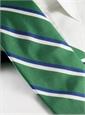 Woven Double Stripe Tie in Kelly
