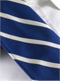 Silk Bar Stripe Tie in Navy