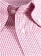 Pink & White Small Grid Check Button Down