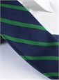 Mogador Bar Stripe Tie in Navy and Kelly