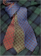 Silk and Linen Neat Print Tie in Campari