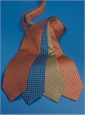 Silk Print Dot Motif Tie in Rust