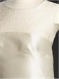 Ladies Sheath Silk White Dress