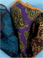 Wool and Silk Paisley Motif Pocket Squares
