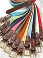 Stretch Cotton Twill Belts in Solid Colors