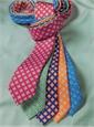 Silk Print Diamond Motif Bow Tie in Navy
