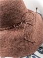 Raffia Sun Hat in Brick