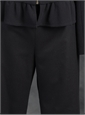 Ladies Wool Black Narrow Pant