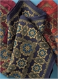 Wool and Silk Medallion Motif Pocket Squares