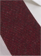 Wool Solid Melange Tie in Red