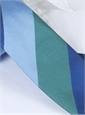 Silk Block Stripe Tie in Juniper, Sky and Navy