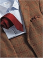 Muted Ochre District Check Sport Coat in Wool, Silk and Alpaca