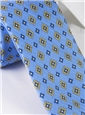 Silk and Linen Neat Print Tie in Sky