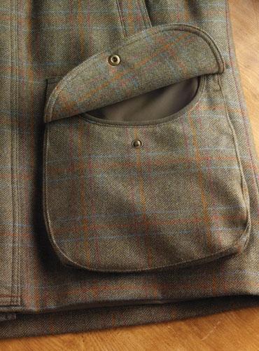 Olive Herringbone Field Coat