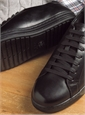 Geox Leather Sneakers in Black