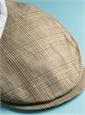 Wool and Linen Helmsley Cap in Nutmeg Glen Plaid