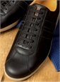 The Leather Sneaker in Black