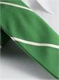 Silk Woven Bar Stripe Tie in Grass