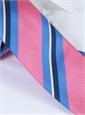 Silk Woven Multi-Stripe Tie in Rose