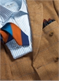 Sienna Herringbone Lambswool Sport Coat with Double Windowpane