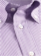 170's Purple & White Bengal Stripe Button Down
