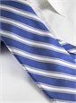 Silk Woven Double Stripe Tie in Persian