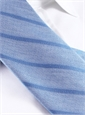 Silk and Linen Stripe Tie in Cobalt