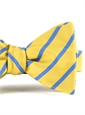 Mogador Bar Stripe Bow in Lemon