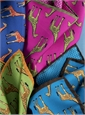 Silk Giraffe & Gingham Reversible Pocket Squares