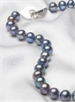 Single Strand Gray Pearl Necklace