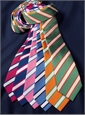Mogador Silk Stripe Tie in Pistachio