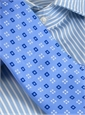 Silk Print Neat Square Tie in Sky with Navy
