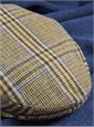 Wool Garforth Motoring Cap in Azure, Olive, and Brown Plaid