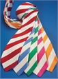Mogador Silk Stripe Tie in Azalea
