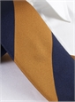Silk Block Stripe Tie in Bronze and Navy