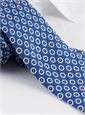 Silk Print Flower Motif Tie in Cobalt
