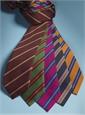 Mogador Woven Stripe Tie in Magenta and Cornflower