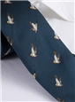 Silk Woven Mallard Motif Tie in Atlantic
