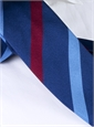 Silk Multi Stripe Tie in Navy and Wine