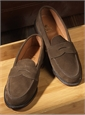 The Alden Penny Loafer in Dark Brown Suede
