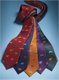 Silk Woven Animal Motif Tie in Navy