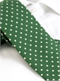 Cotton Print Dot Tie in Malachite