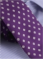 Diamond Printed Silk Tie in Violet
