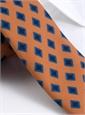 Wool Diamond Printed Tie in Marigold