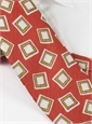 Silk and Linen Square Motif Tie in Orange