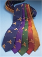Silk Woven Pheasant in Flight Tie in Navy