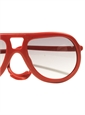 Aviator Rubber Sunglass in Red