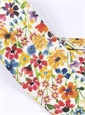 Cotton Floral Printed Tie in Ivory